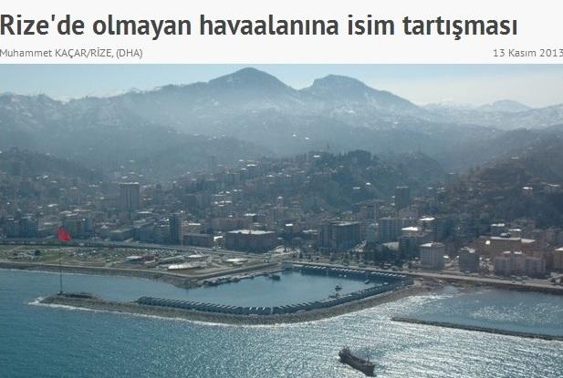 Rize Hava Limanı Ulusal Basında…