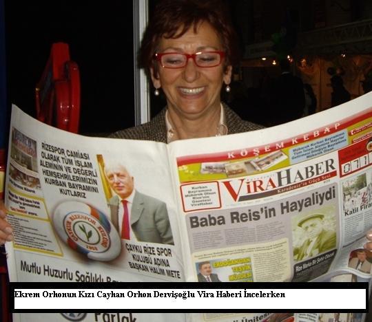 Cayhan Dervişoğlu -Ekrem Orhonun kızı Vira Haberi incelerken...