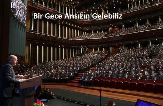 Türkiye Cumhurbaşkanı Recep Tayyip Erdoğan, Beştepe Millet Kongre ve Kültür Merkezi'nde Türk Savunma Sanayii Zirvesi'ne katılarak konuşma yaptı. ( Cem Öksüz - Anadolu Ajansı )
