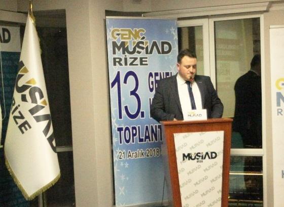 Rize Genç MÜSİAD'ın 9. Dönem Başkanı Emre Soykan Oldu
