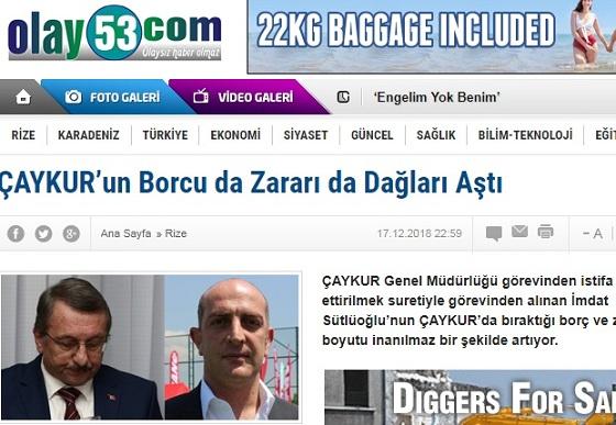 """""""ÇAYKUR'UN BORCU DA ZARARI DA DAĞLARI AŞTI!"""""""