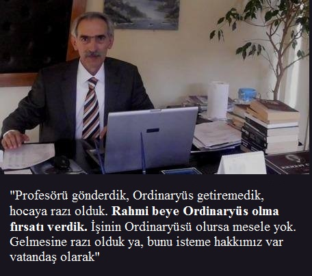 RAHMİ METİN'E ORDİNARYÜS OLMA FIRSATI