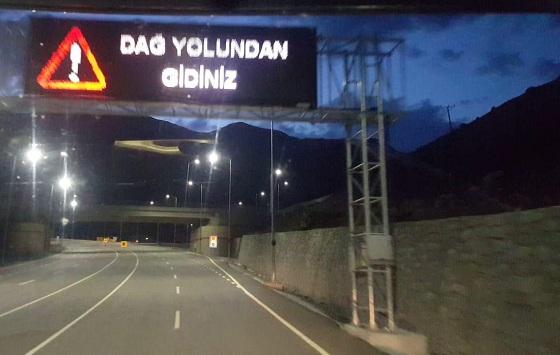 OVİT DAĞI TÜNELİNE DİKKAT!