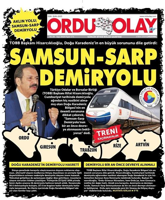 SAMSUN-SARP DEMİRYOLU