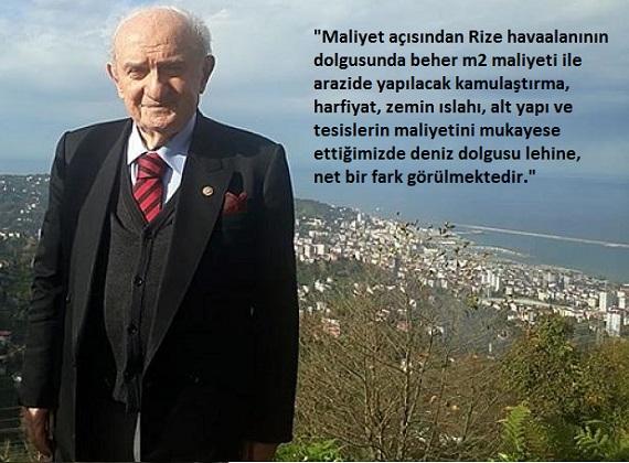 Ahmet Kabil; En Uygun Yer Deniz Dolgusudur